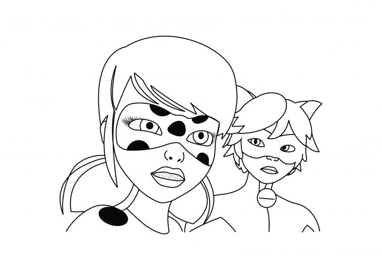 - Tales Of Ladybug & Cat Noir - Miraculous Colouring Page - DRAKL