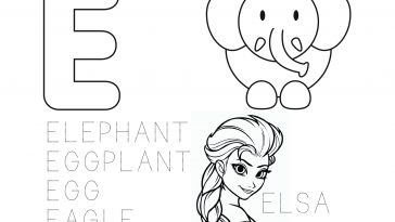 Learn The Alphabet Coloring Page Letter F Educational Printables Drakl